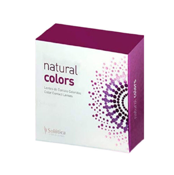 עדשות צבעוניות שנתיות סולוטיקה נטורל קולורס עם מספר (Solotica Natural Colors)